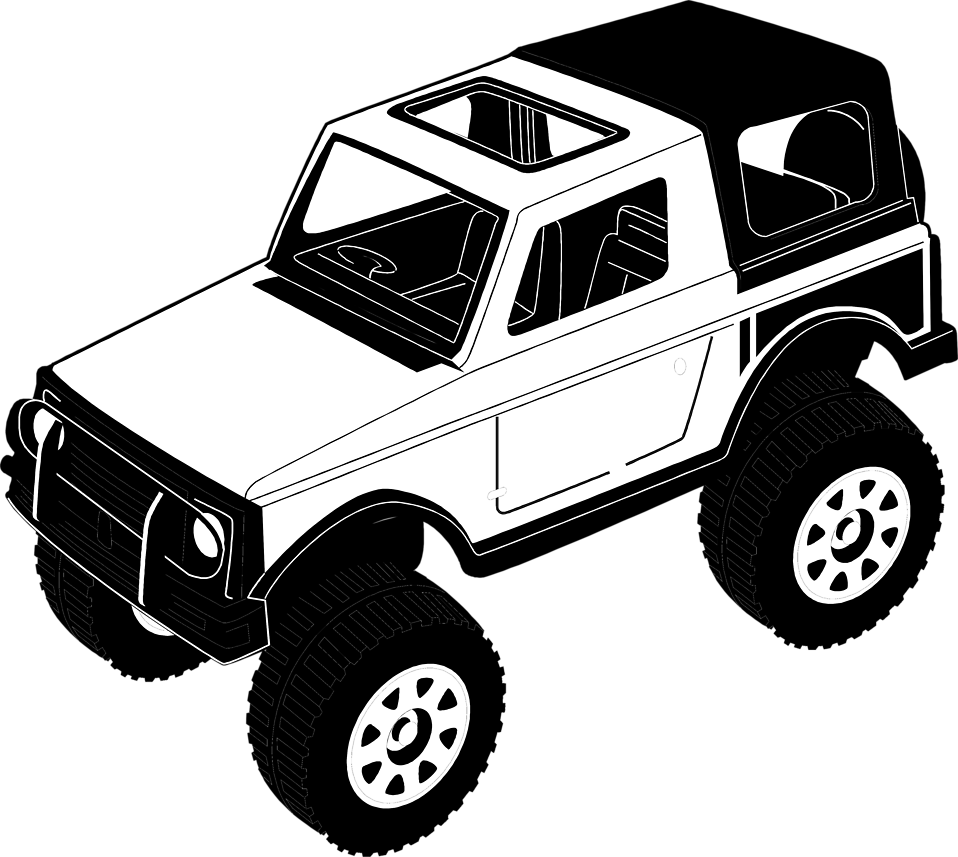 Illustration of a toy jeep : Free Stock Photo