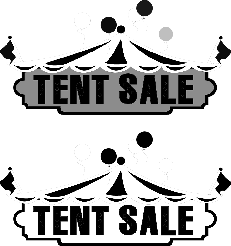 Illustration of tents and tent sale texts : Free Stock Photo