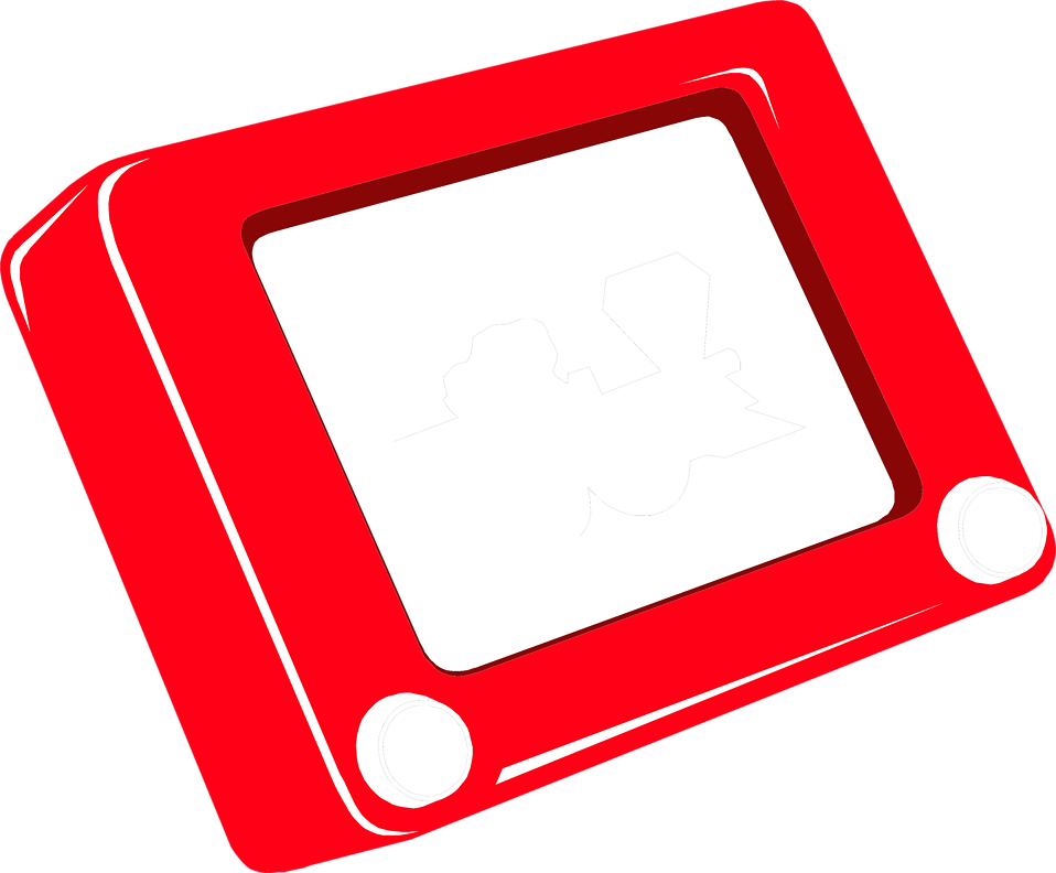 Illustration of an etch-a-sketch : Free Stock Photo