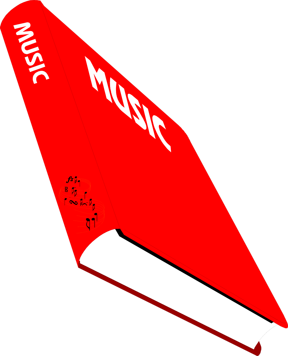 Illustration of a music text book : Free Stock Photo