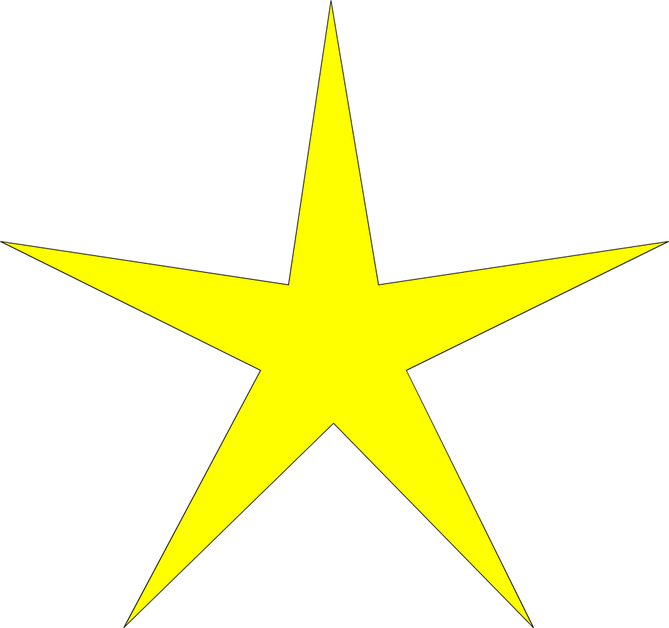 Illustration of a yellow star : Free Stock Photo