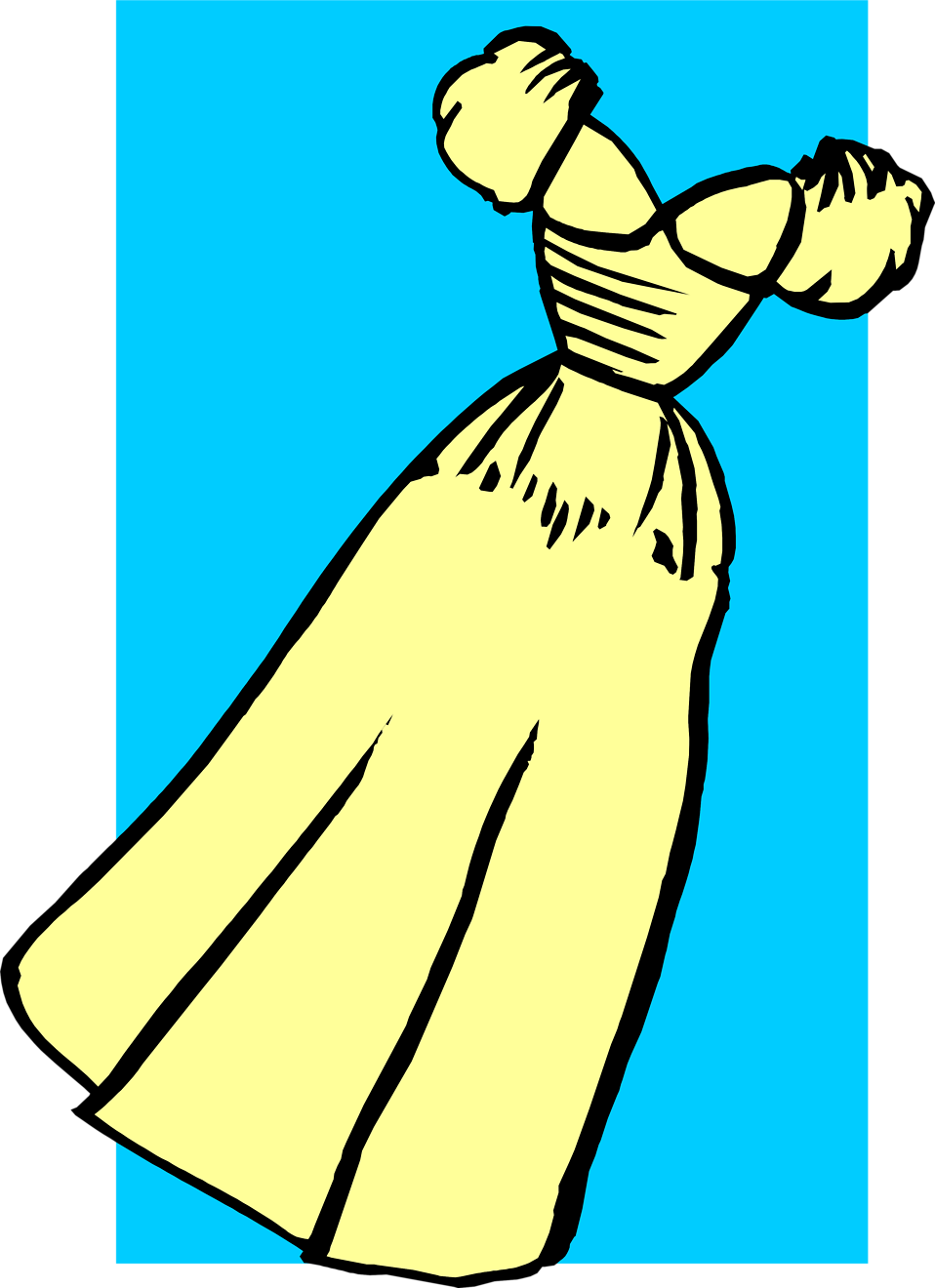 Illustration of a yellow dress : Free Stock Photo