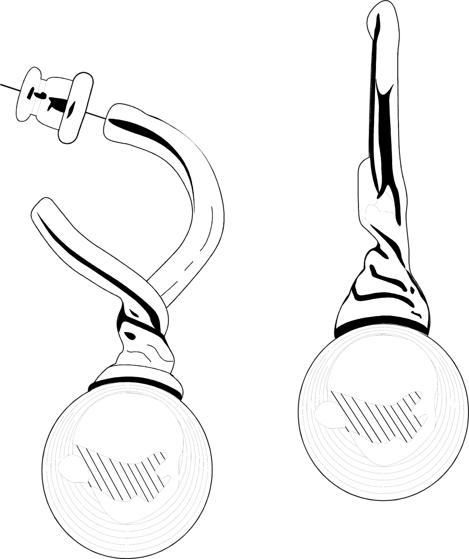Illustration of a pair of earrings : Free Stock Photo