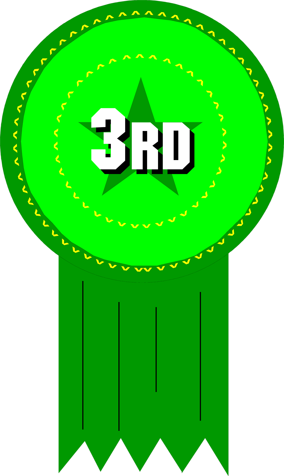 Illustration of 3rd place ribbon : Free Stock Photo