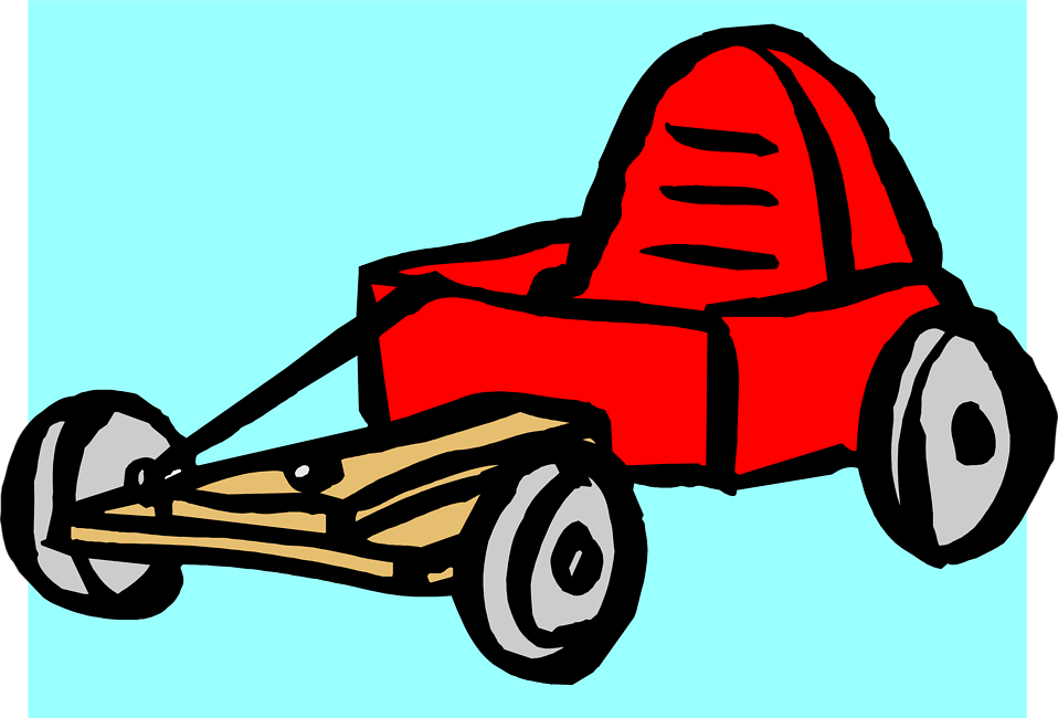 Illustration of a red go-kart : Free Stock Photo