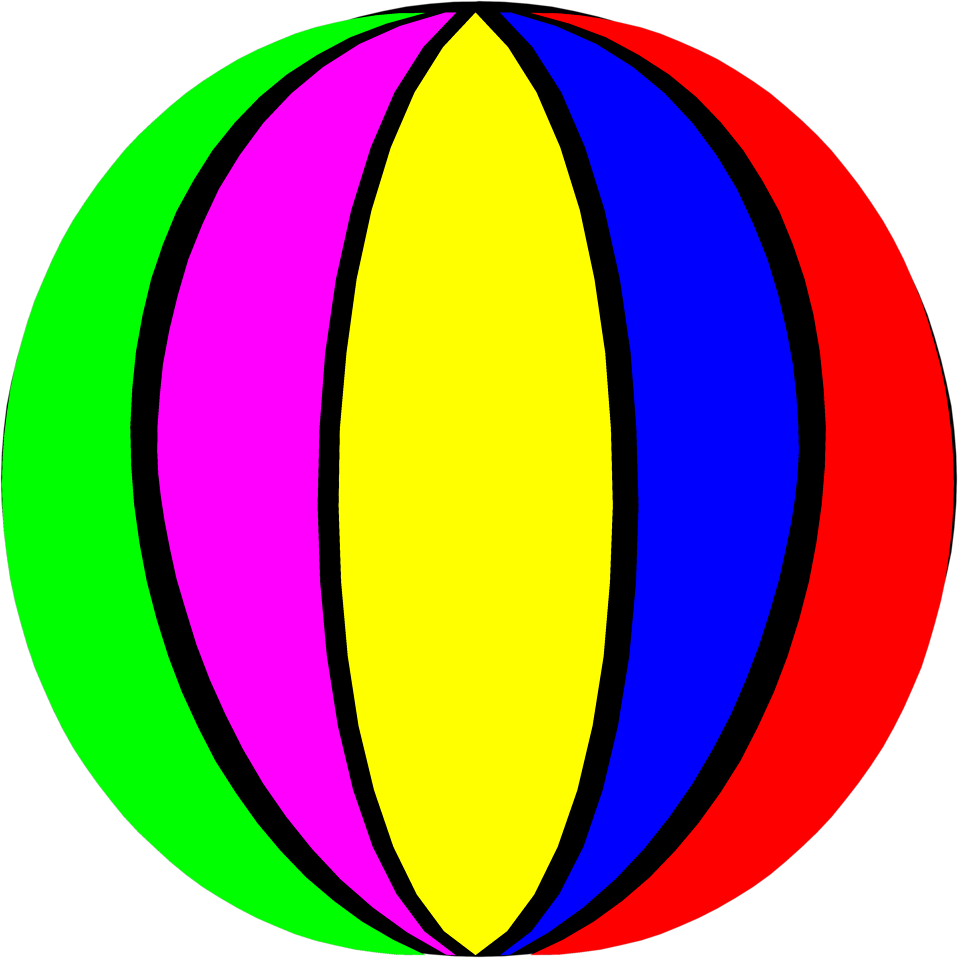 Illustration of a beach ball : Free Stock Photo
