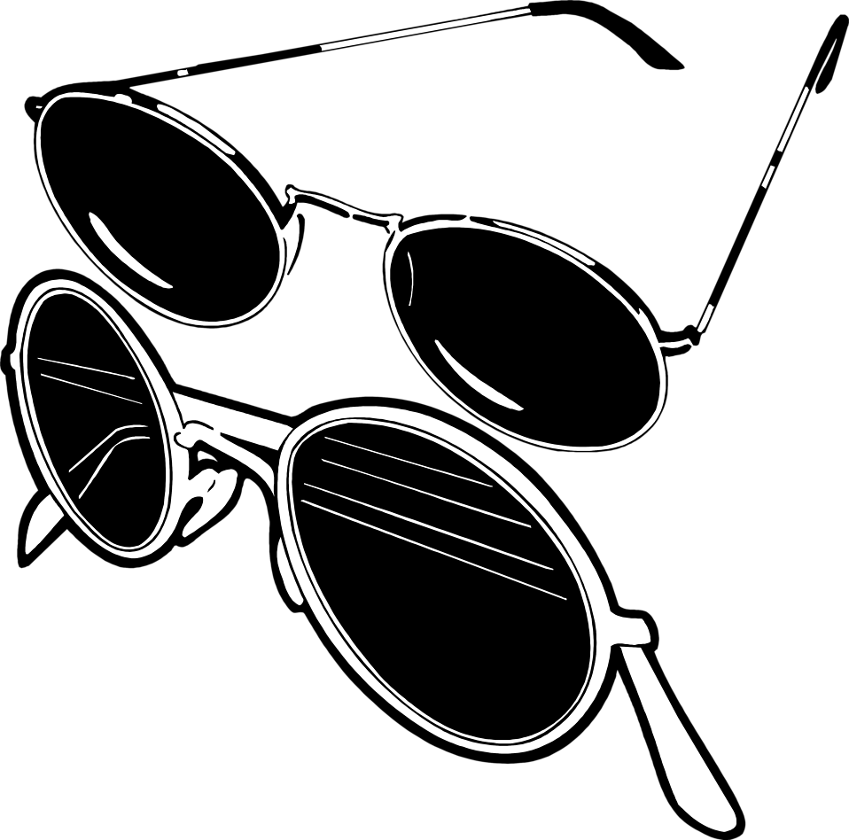 Illustration of two pair of sunglasses : Free Stock Photo