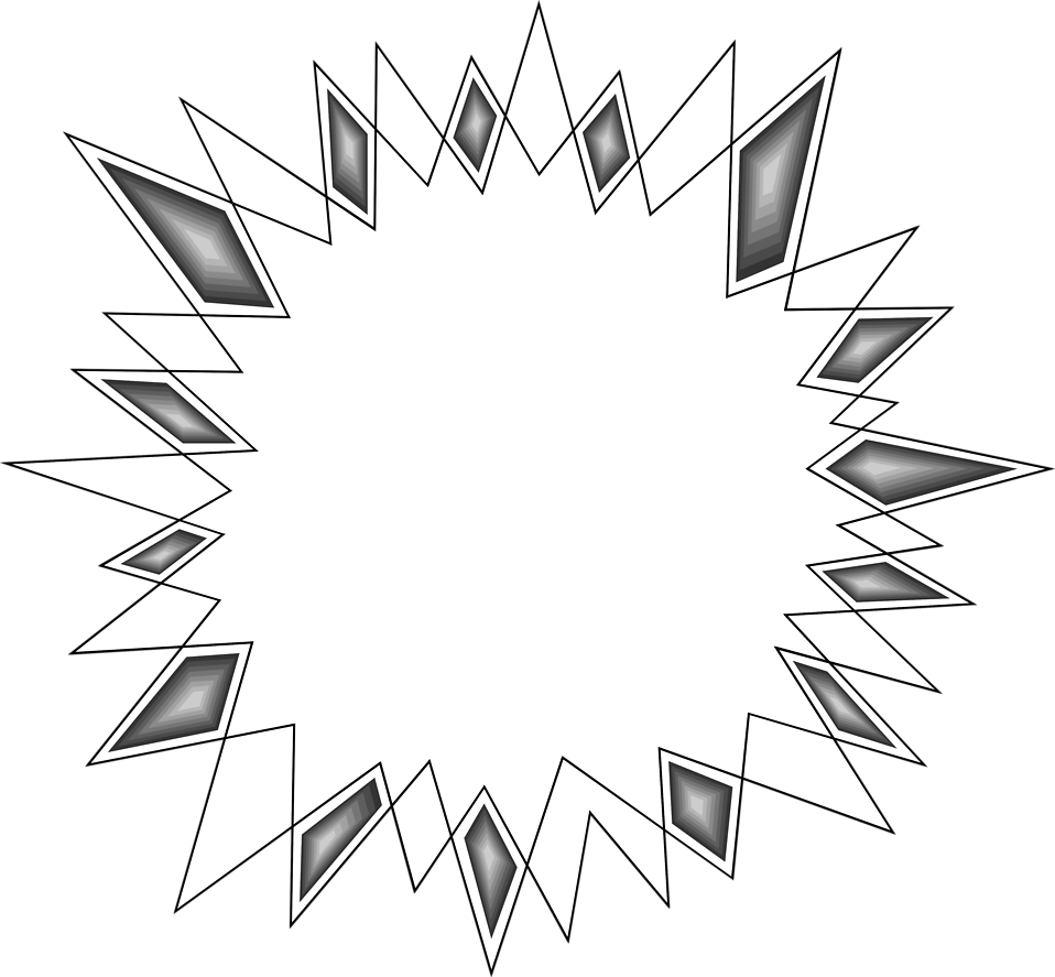 Illustration of a blank burst.