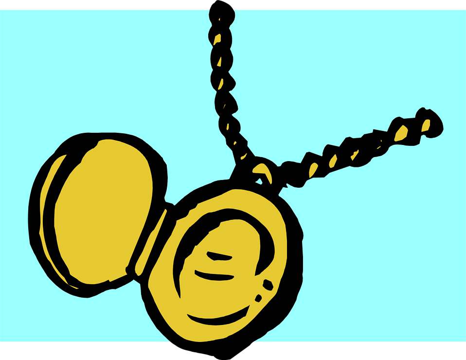 Illustration of an open locket : Free Stock Photo