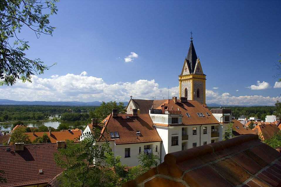 Hluboka town in South of Bohemia : Free Stock Photo