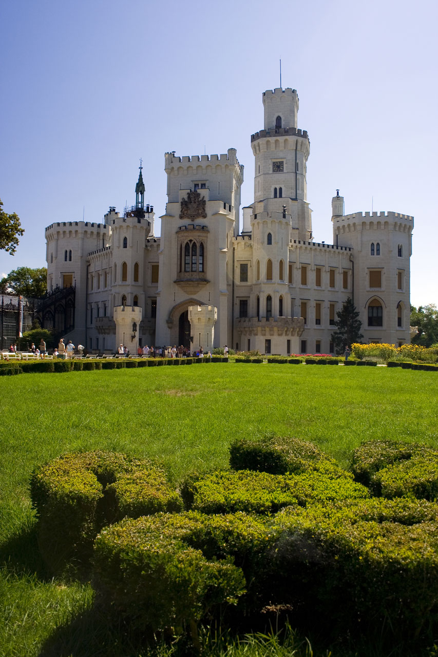 Hluboka castle in South of Bohemia : Free Stock Photo