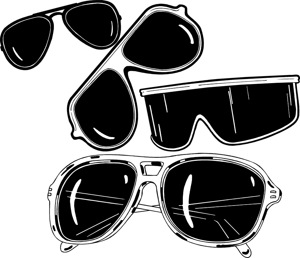 Illustration of various sun glasses : Free Stock Photo