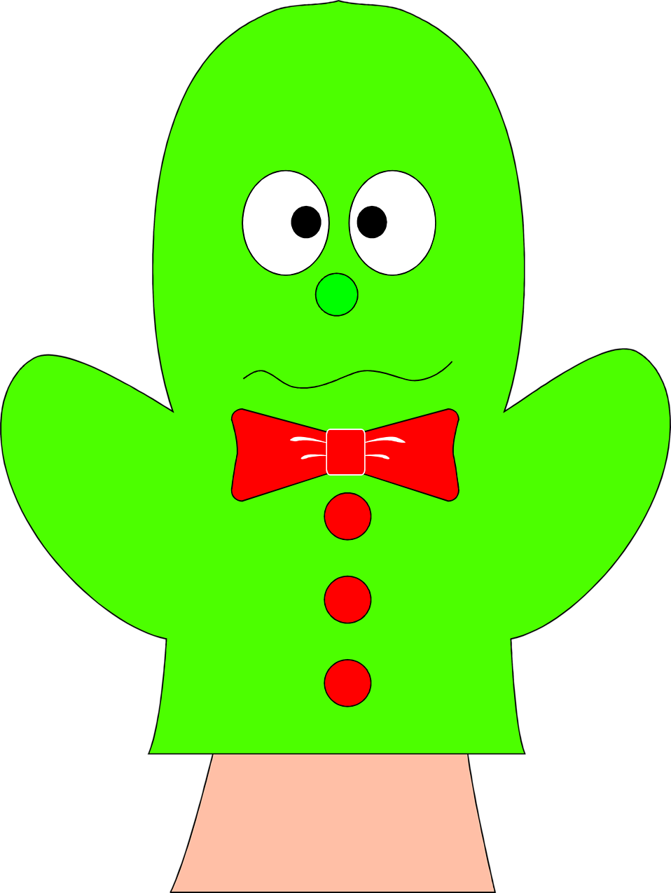 Illustration of a green hand puppet : Free Stock Photo
