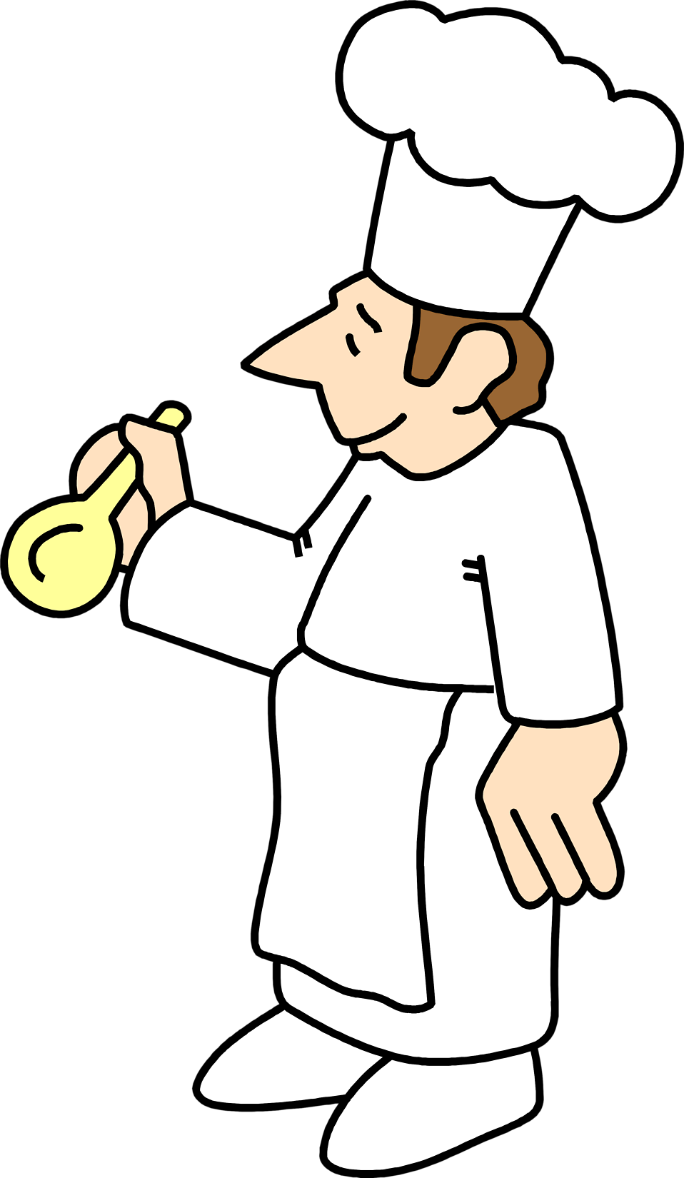 Illustration of a chef with a spoon : Free Stock Photo