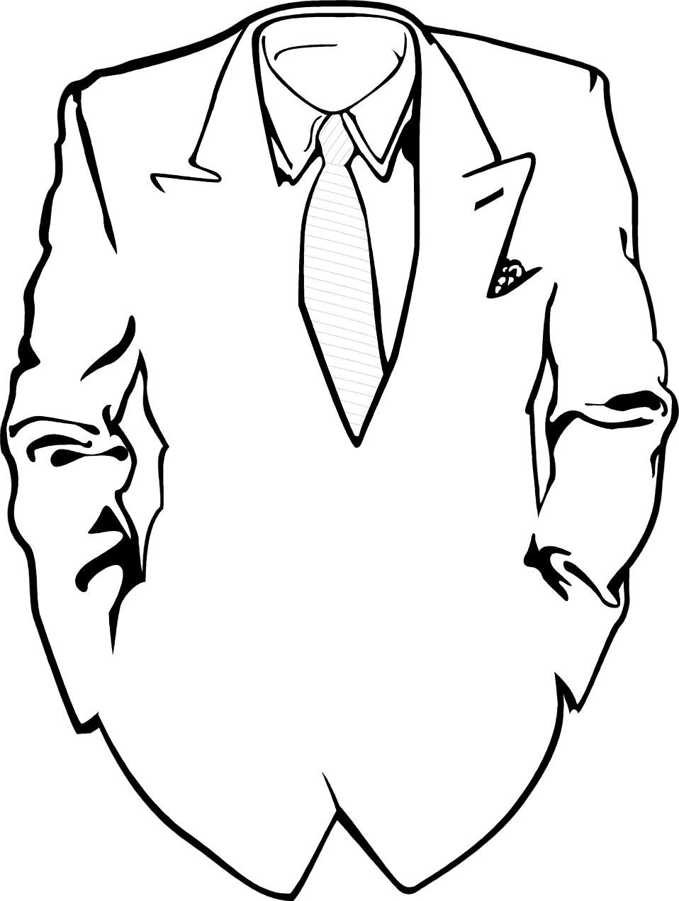 suit free stock photo illustration of a suit and tie