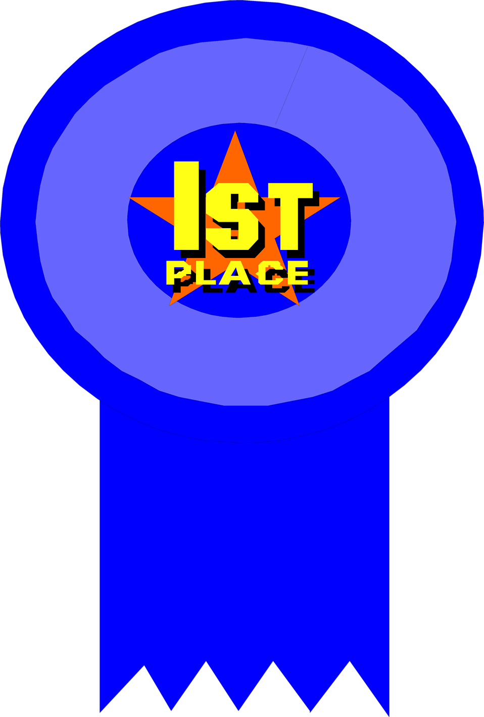Illustration of a 1st place ribbon : Free Stock Photo