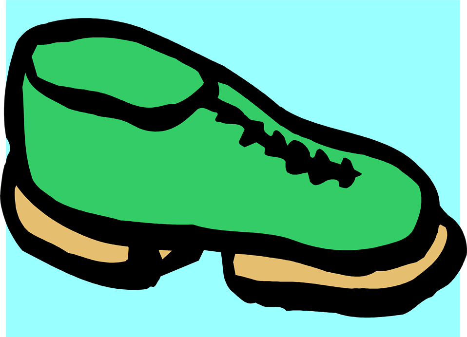 Illustration of a green shoe : Free Stock Photo