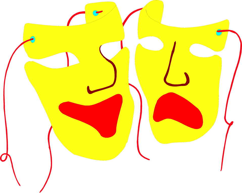 Illustration of drama masks : Free Stock Photo