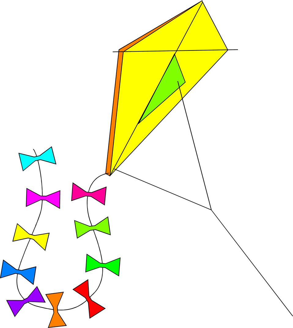 Illustration of a kite : Free Stock Photo