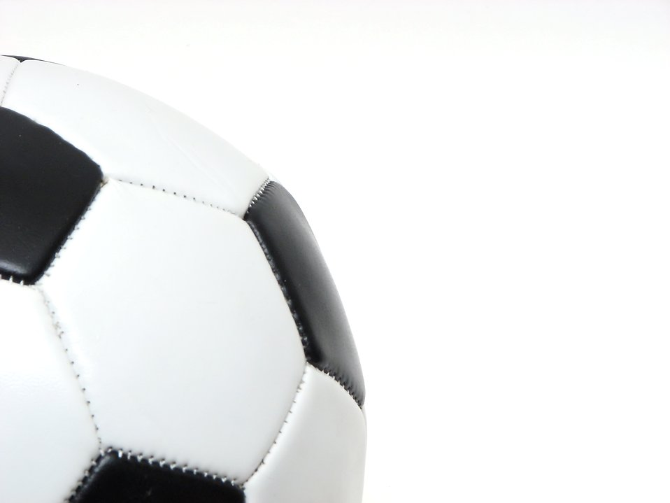 Close-up of a soccer ball isolated on a white background.
