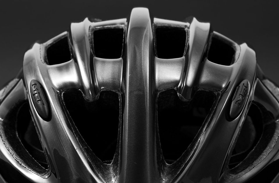Close-up of a black bicycle helmet : Free Stock Photo