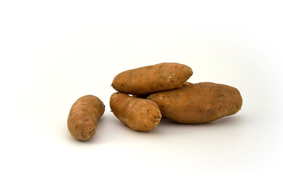 Sweet potatoes isolated on a white background : Free Stock Photo