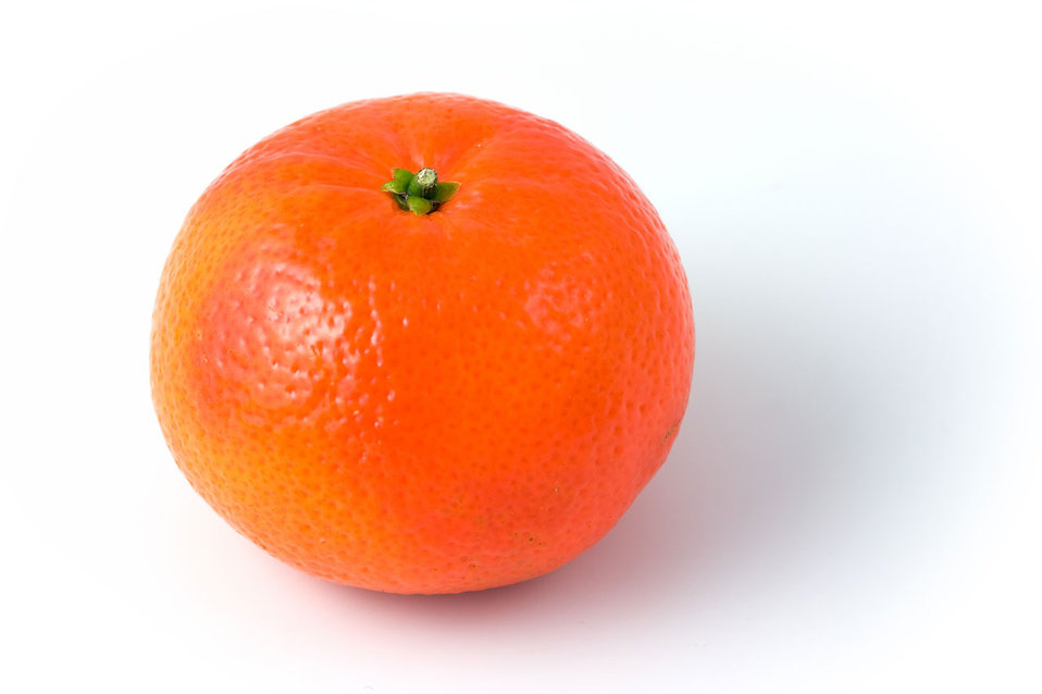 A clementine isolated on a white background : Free Stock Photo