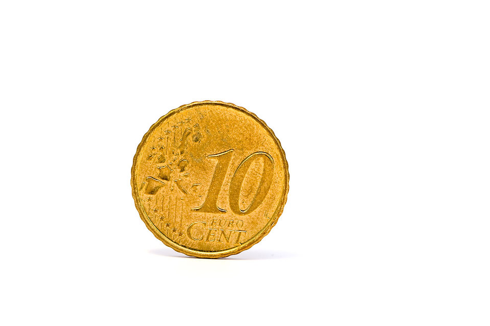 A 10 Euro cent coin : Free Stock Photo