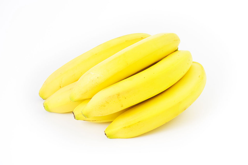 A bunch of yellow bananas isolated on a white background : Free Stock Photo