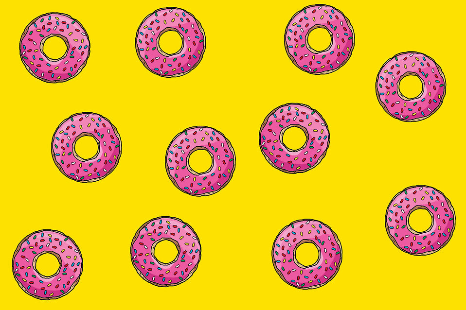 Illustration of donuts : Free Stock Photo