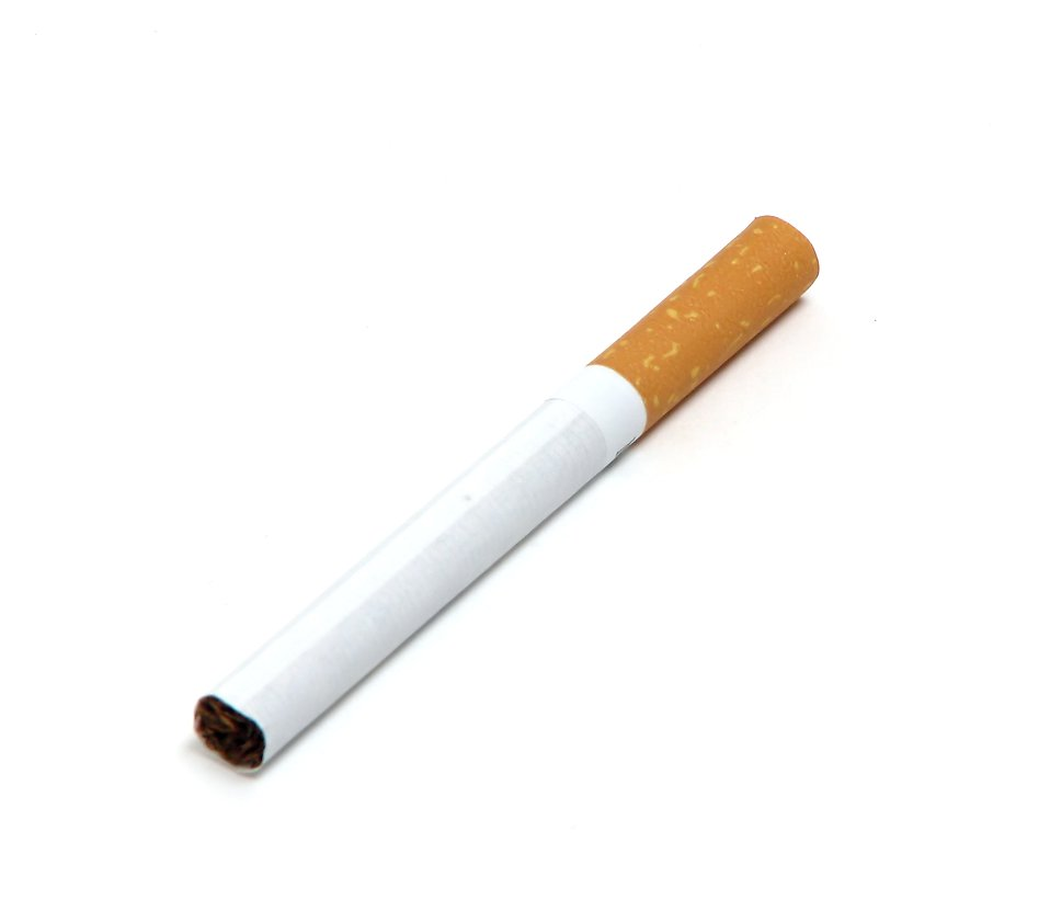 A cigarette isolated on a white background : Free Stock Photo