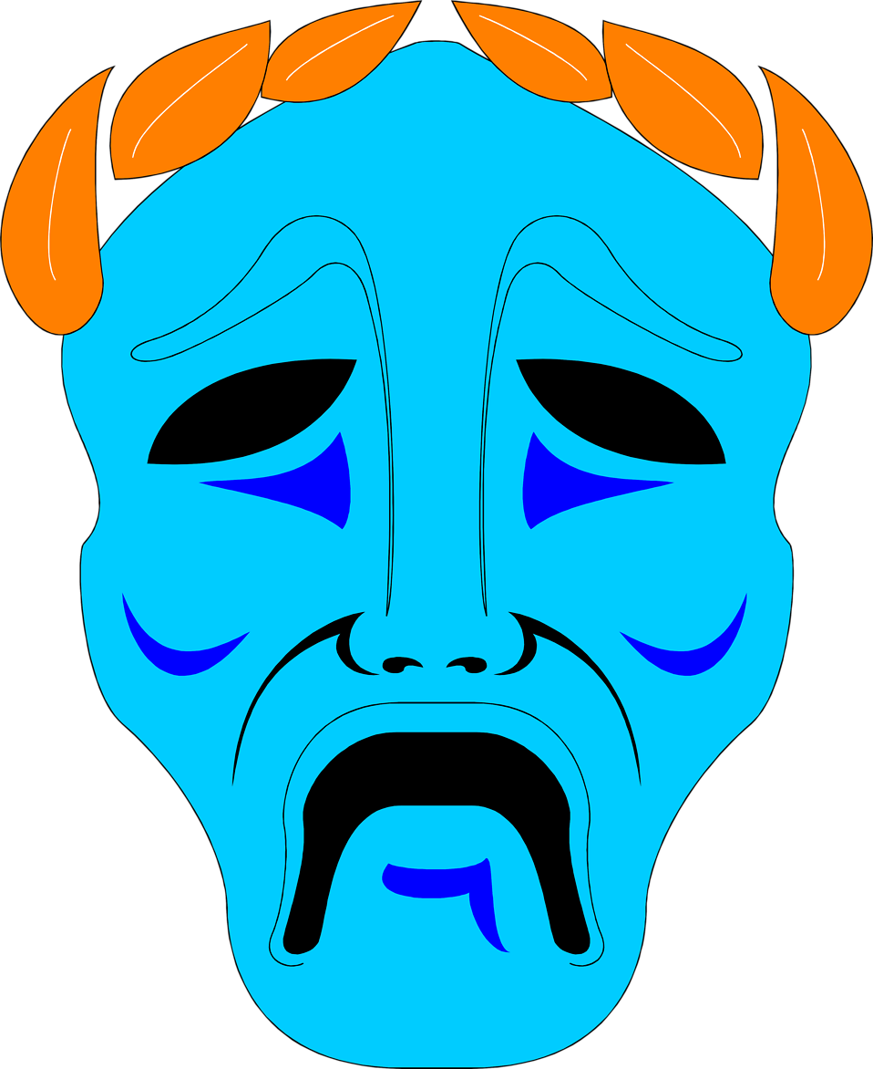 Illustration of a tragedy drama mask : Free Stock Photo
