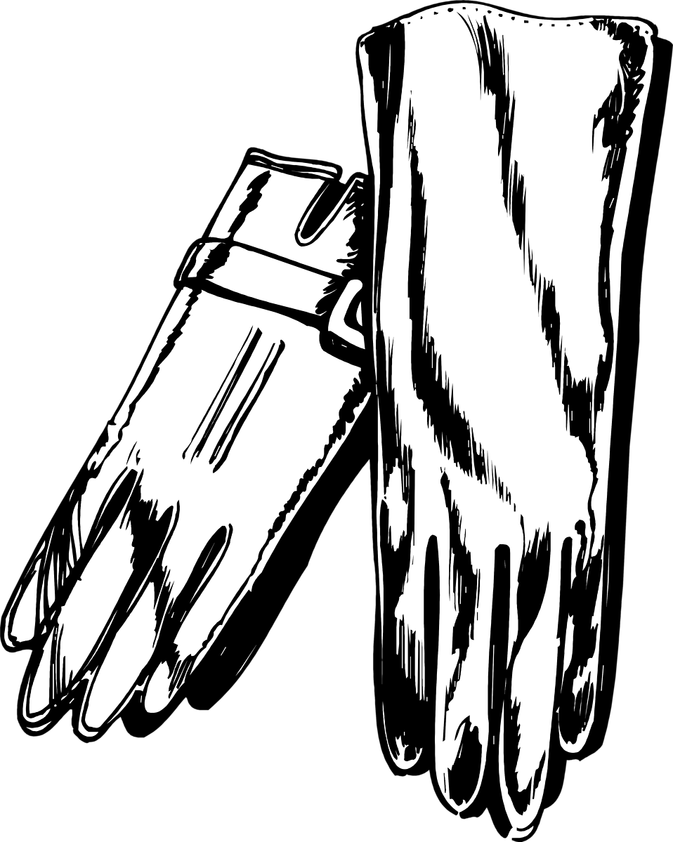 Illustration of a pair of gloves : Free Stock Photo