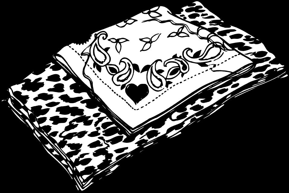Illustration of folded scarves : Free Stock Photo