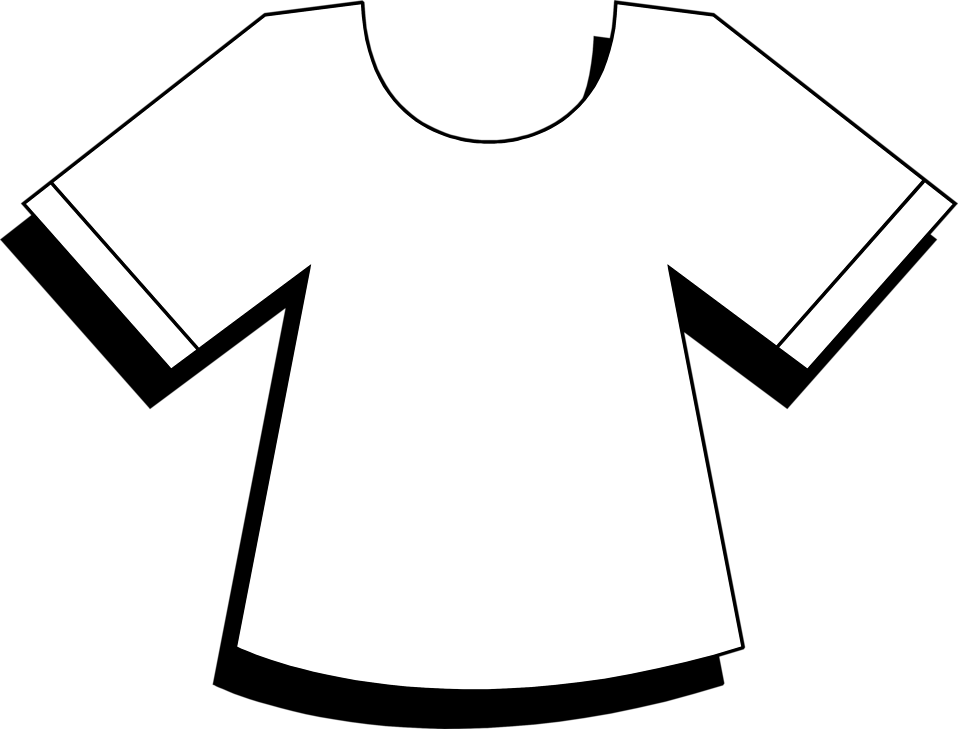 Illustration of a white t-shirt : Free Stock Photo