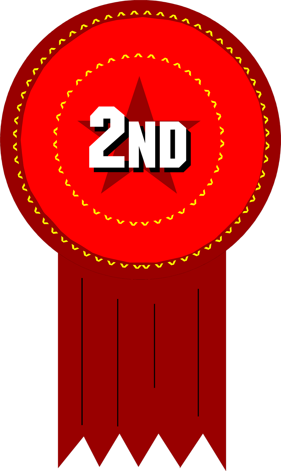 Illustration of a 2nd place ribbon : Free Stock Photo