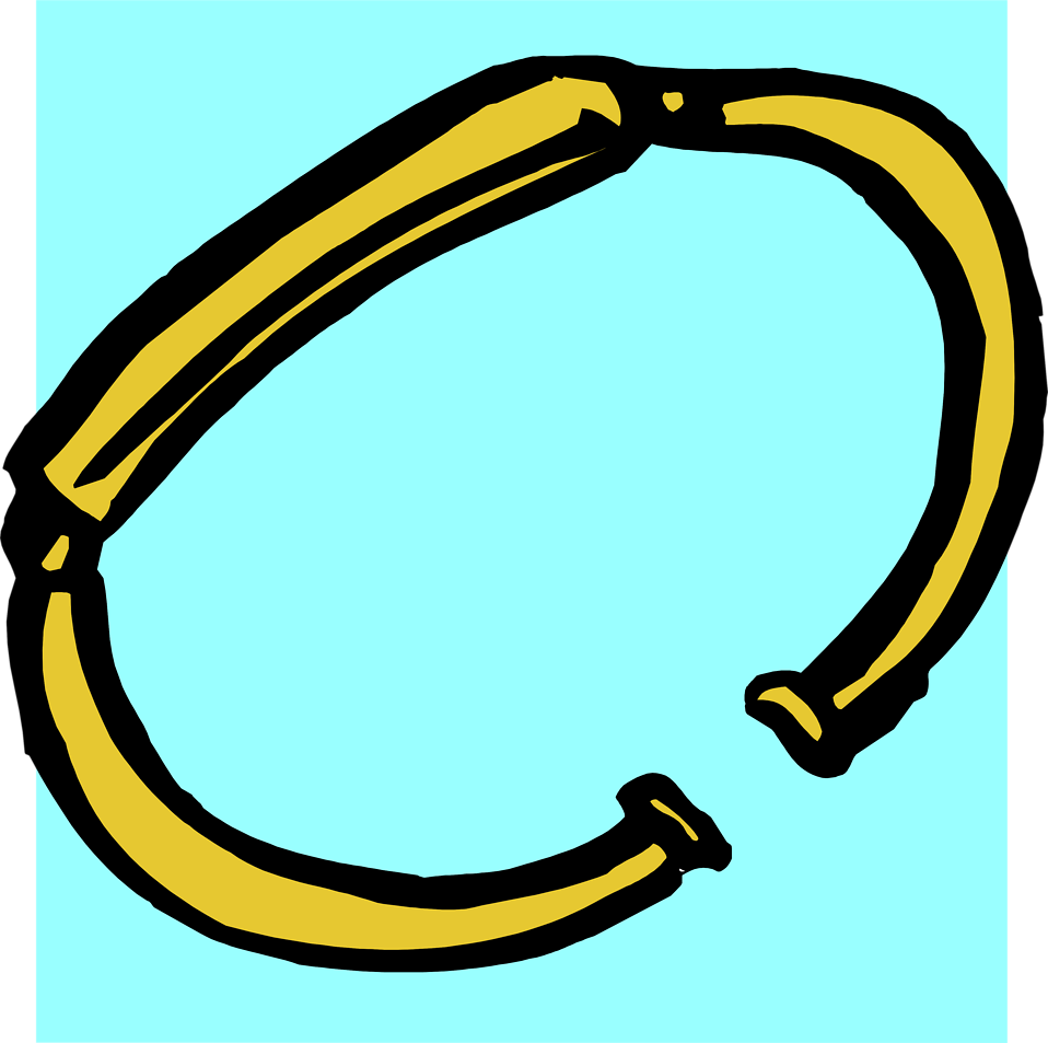 Illustration of a gold bracelet : Free Stock Photo