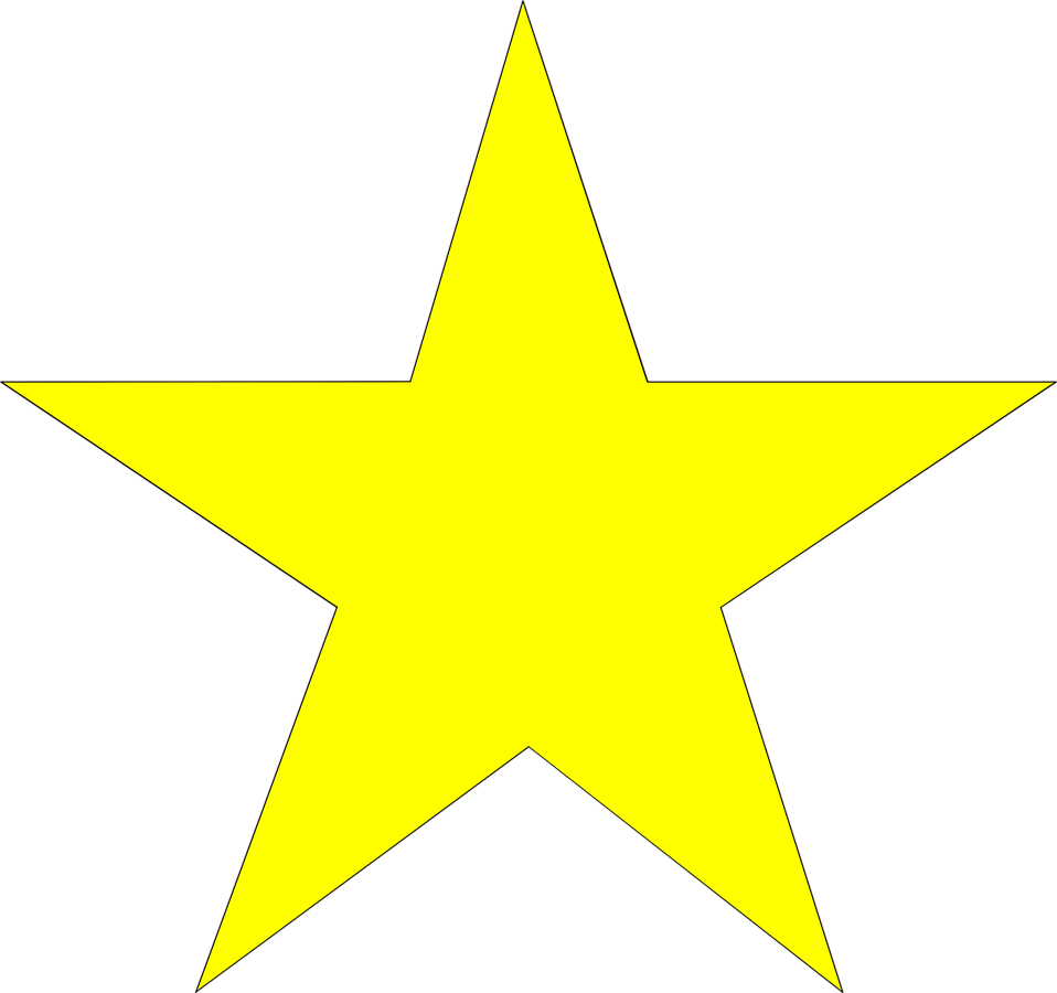 Illustration of a yellow star.