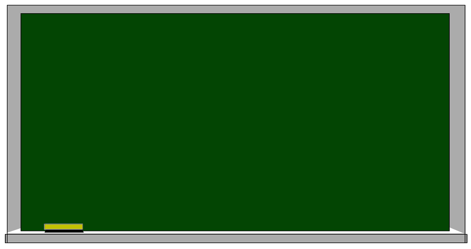 Illustration of a blank chalkboard : Free Stock Photo