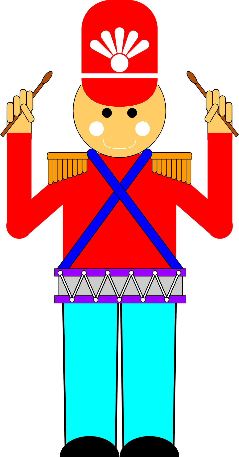 Illustration of a toy soldier with a drum : Free Stock Photo