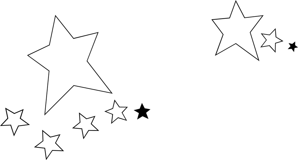 Illustration of white and black stars : Free Stock Photo