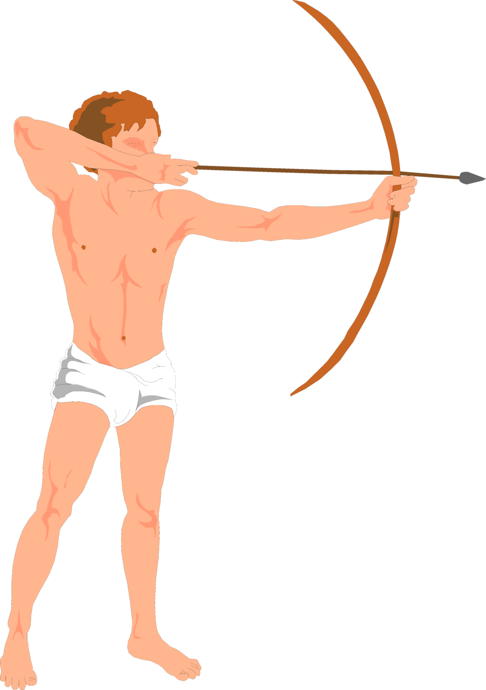 Illustration of cupid with a bow and arrow : Free Stock Photo