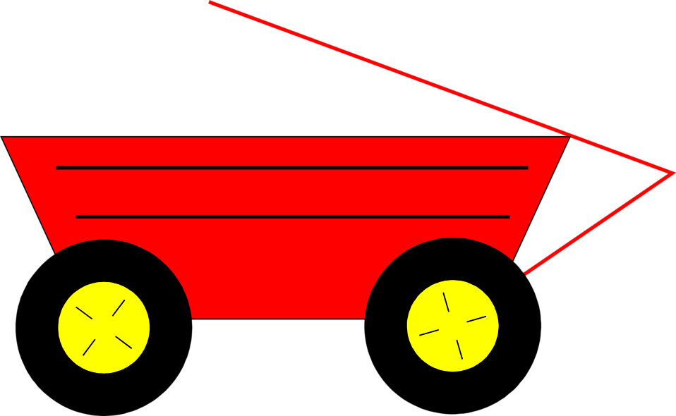Illustration of a red wagon : Free Stock Photo