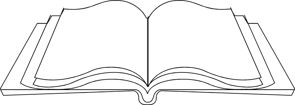 Illustration of an open blank book : Free Stock Photo