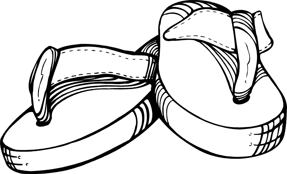 Illustration of a pair of thongs : Free Stock Photo
