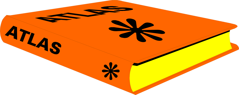 Illustration of an orange atlas book : Free Stock Photo