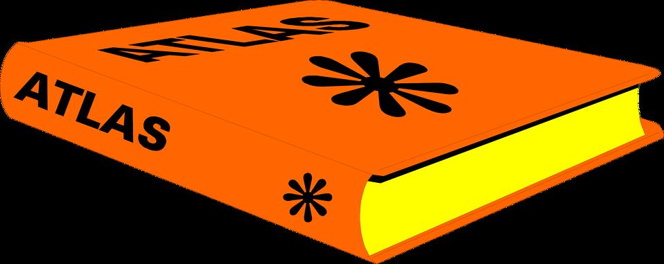 Illustration of an orange atlas book : Free Stock Photo