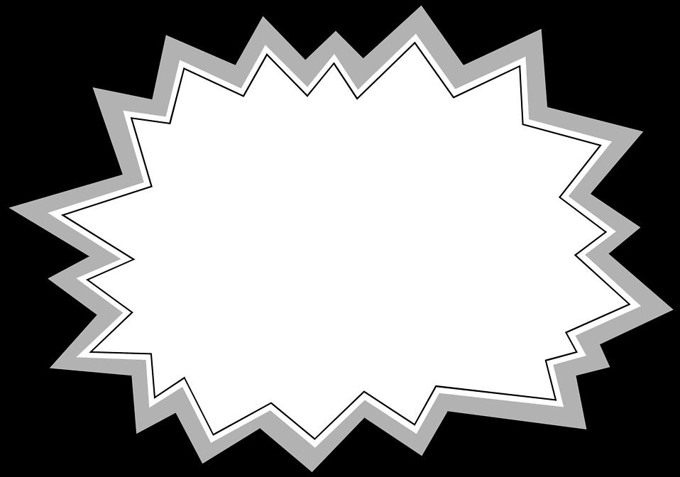 Illustration of a blank burst : Free Stock Photo