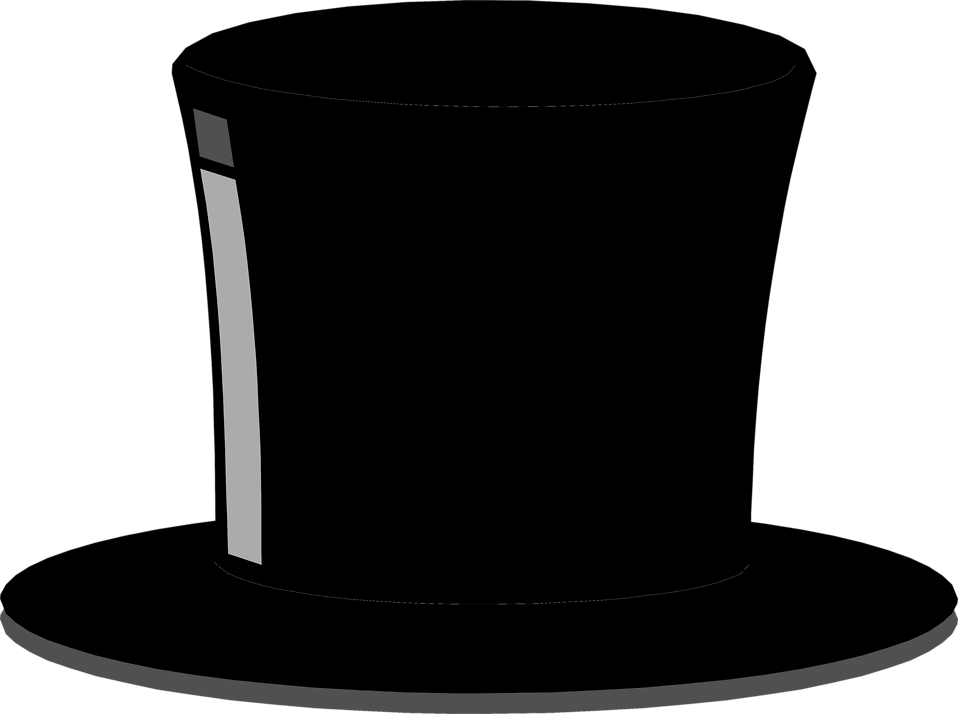 Illustration of a black top hat : Free Stock Photo
