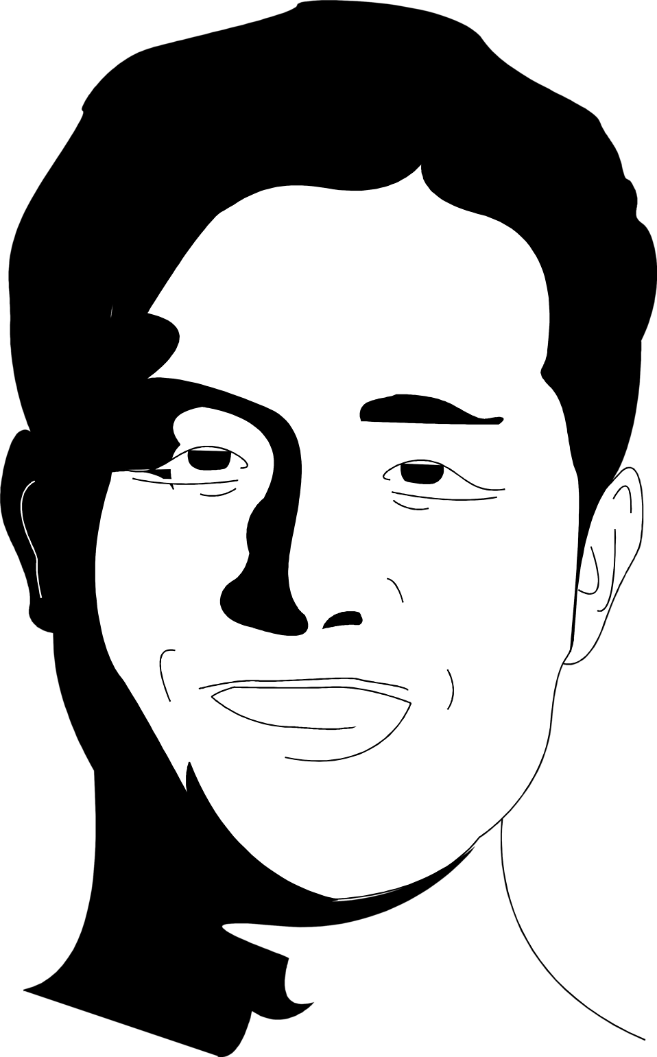 Illustration of a man's face : Free Stock Photo